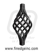 Wrought Iron basket - Ornamental Iron basket - gate baskets - mild steel baskets - twisted wire baskets - gate hardware - gate parts manufacturers exporters suppliers in india