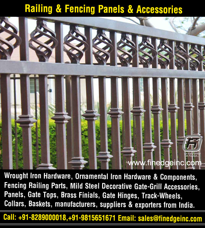 railing fencingwrought iron hardware ornamental iron components fencing parts decorative steel railing materials gate grill accessories parts manufacturers suppliers exporters in India UK USA Germany Italy Canada UAE