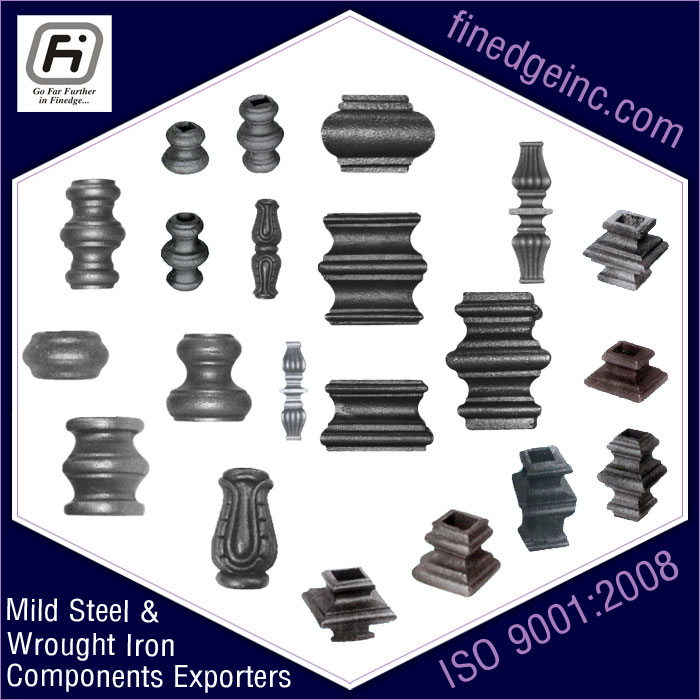 round collars wrought iron hardware ornamental iron components fencing parts decorative steel railing materials gate grill accessories parts manufacturers suppliers exporters in India UK USA Germany Italy Canada UAE