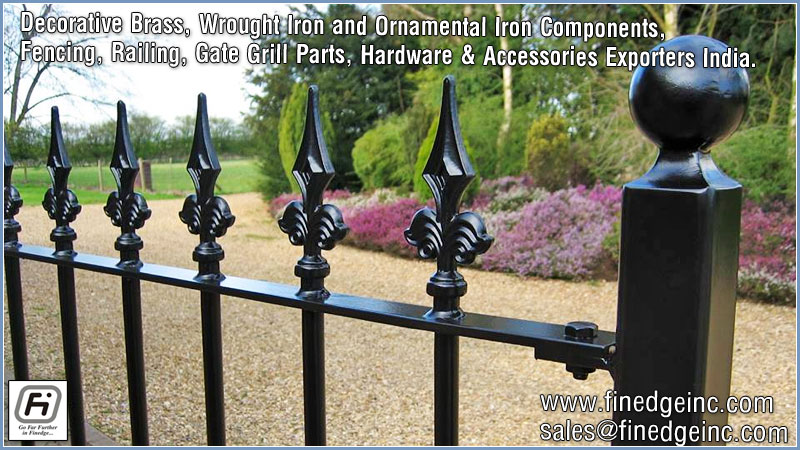Wrought Iron Hardware Fencing Railing Parts Gates Grills